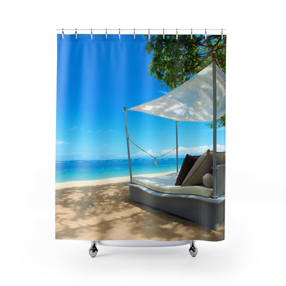 Beach Chair 101 Shower Curtain