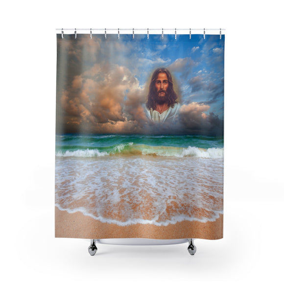 Jesus On The Beach 101 Shower Curtain