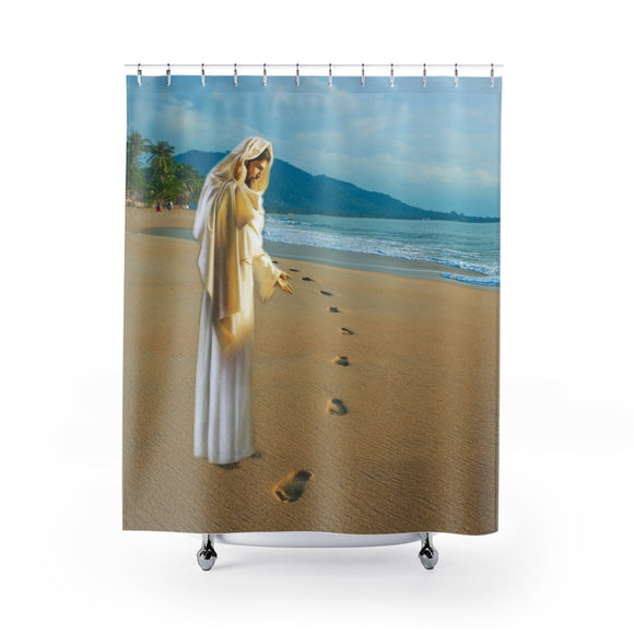 Jesus On The Beach 102 Shower Curtain