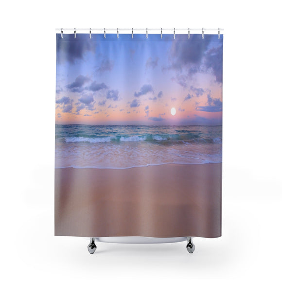 Beach Sunset 110R Shower Curtain