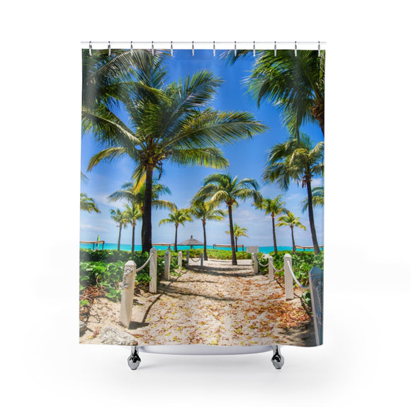 Beach Path 111 Shower Curtain