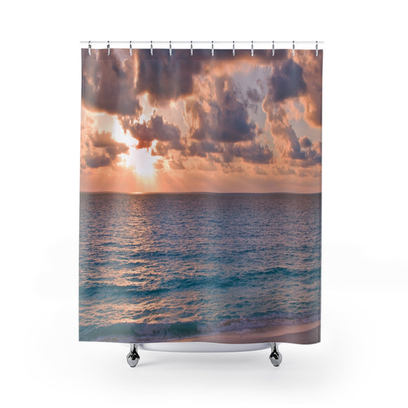 Beach Sunset 113 Shower Curtain