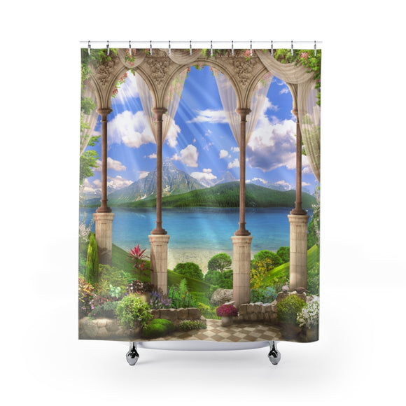 Beach View 103R Shower Curtain