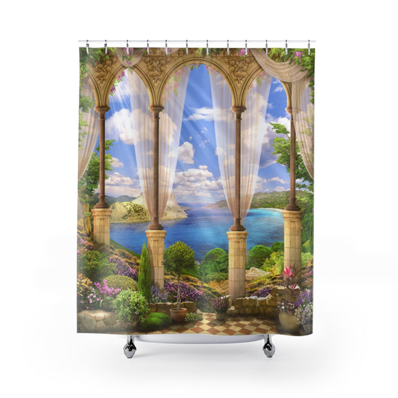 Beach View 104R Shower Curtain