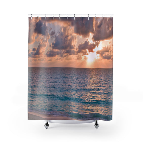 Beach Sunset 113R Shower Curtain