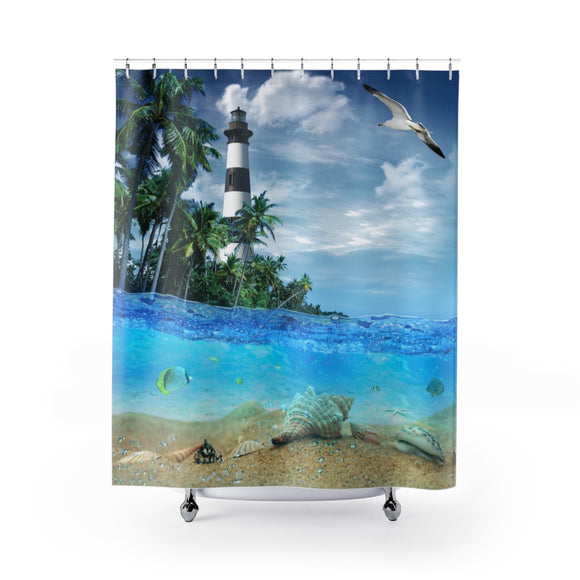 Lighthouse 101A Shower Curtain