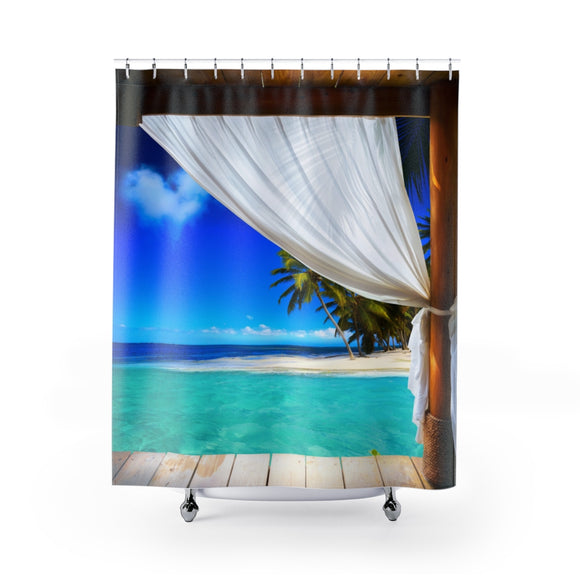 Beach View 101R Shower Curtain