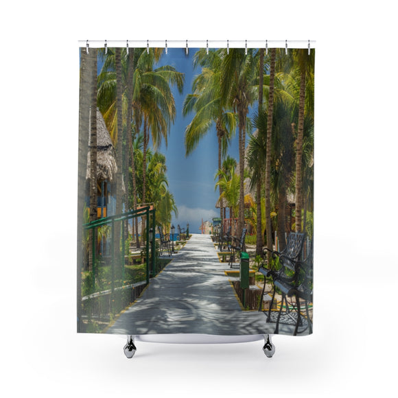 Beach Path 114 Shower Curtain