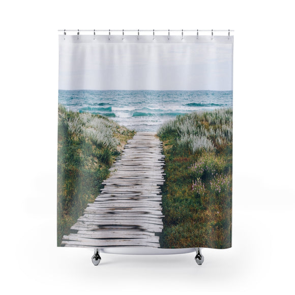Beach Path 101 Shower Curtain