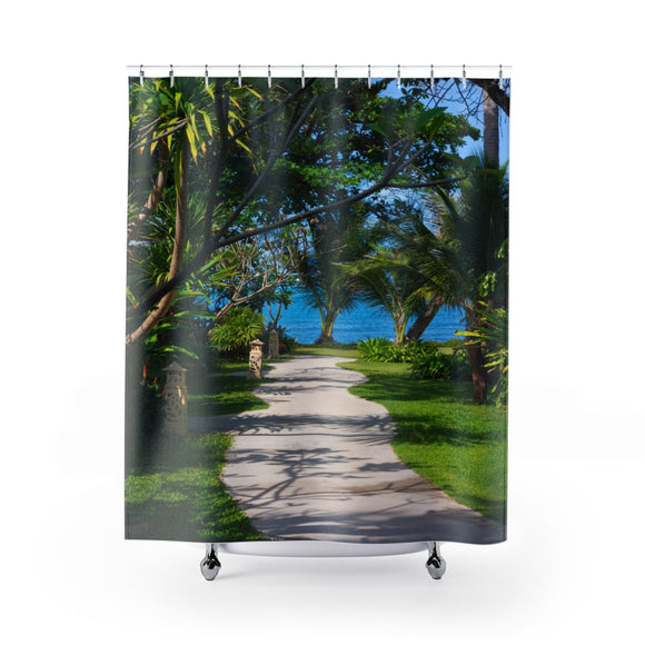 Beach Path 115 Shower Curtain