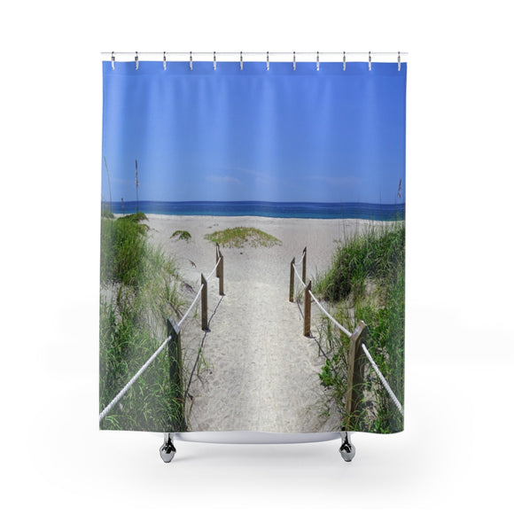 Beach Path 105R Shower Curtain