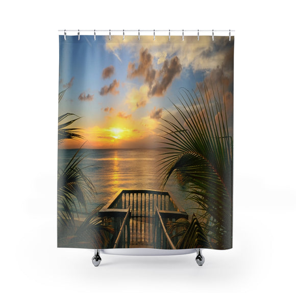 Beach View 105 Shower Curtain