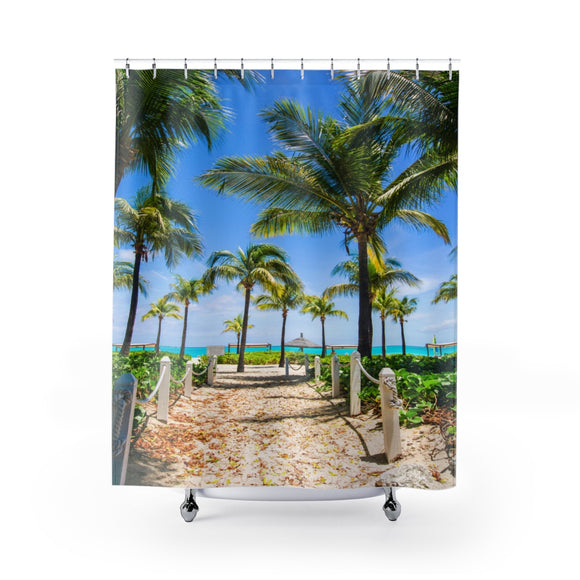 Beach Path 111R Shower Curtain