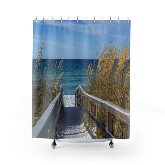 Beach Path 109R Shower Curtain