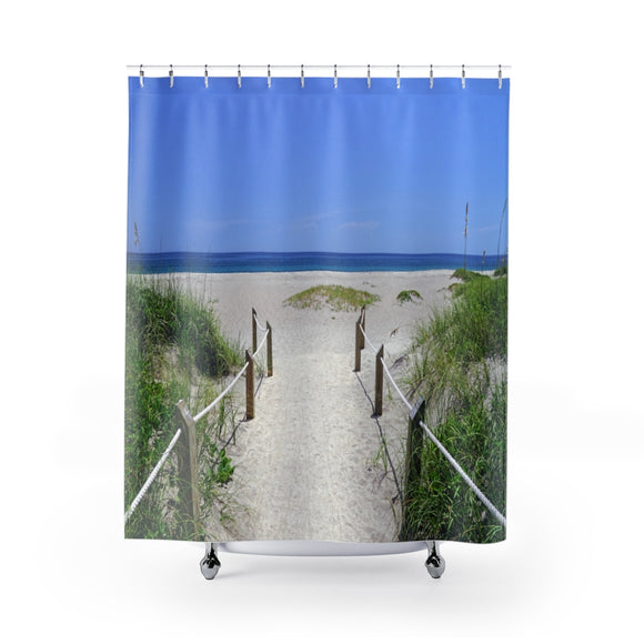 Beach Path 105 Shower Curtain