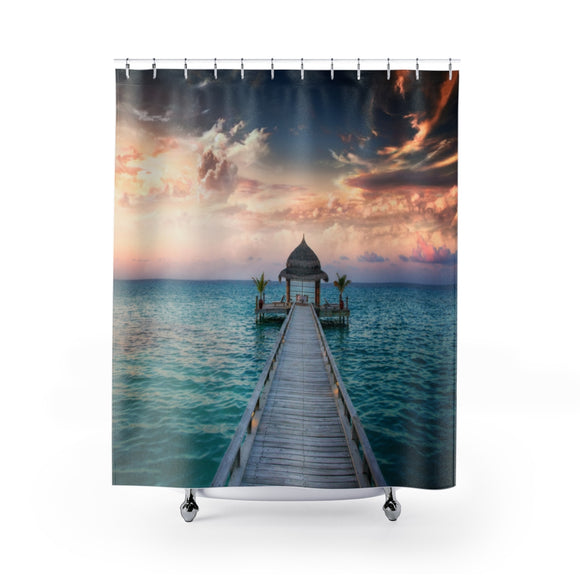 Beach Boardwalk 101 Shower Curtain
