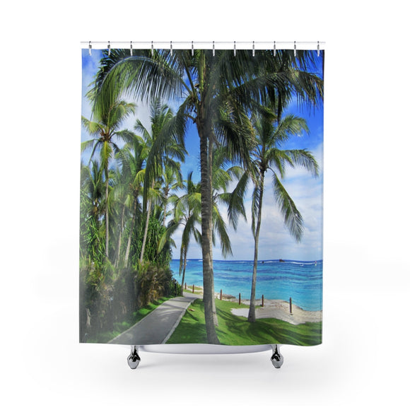 Beach Path 113 Shower Curtain