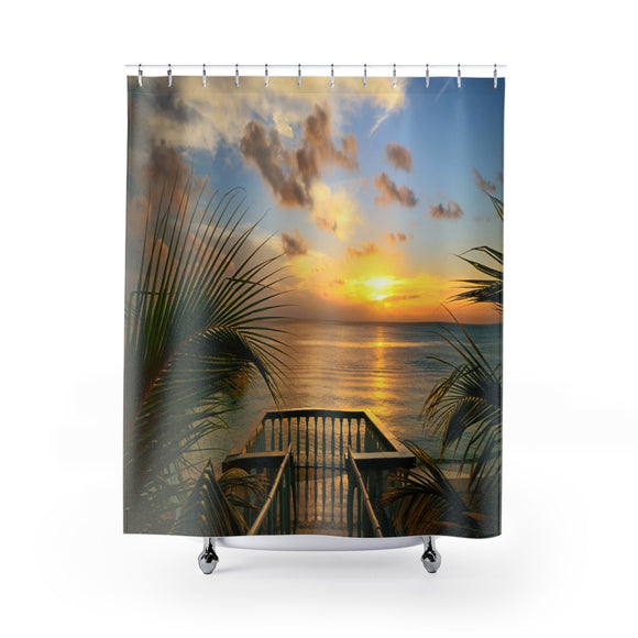 Beach View 105R Shower Curtain