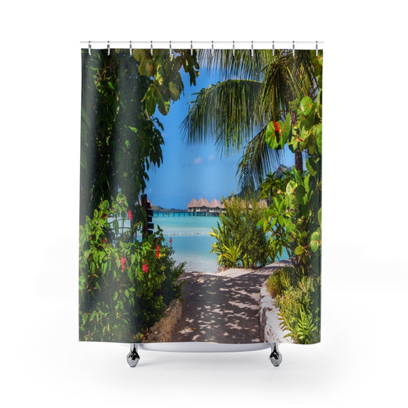 Beach Path 112 Shower Curtain