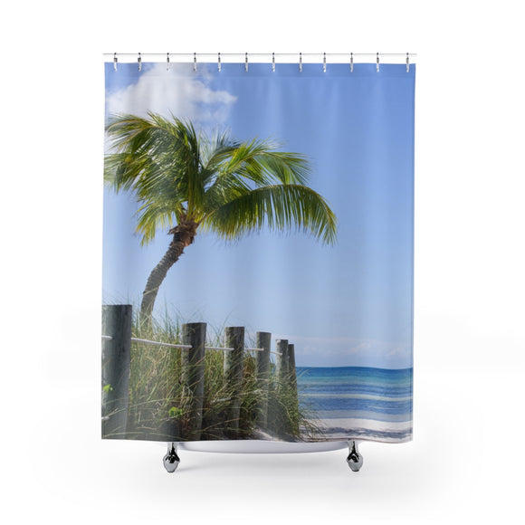Beach Path 107R Shower Curtain