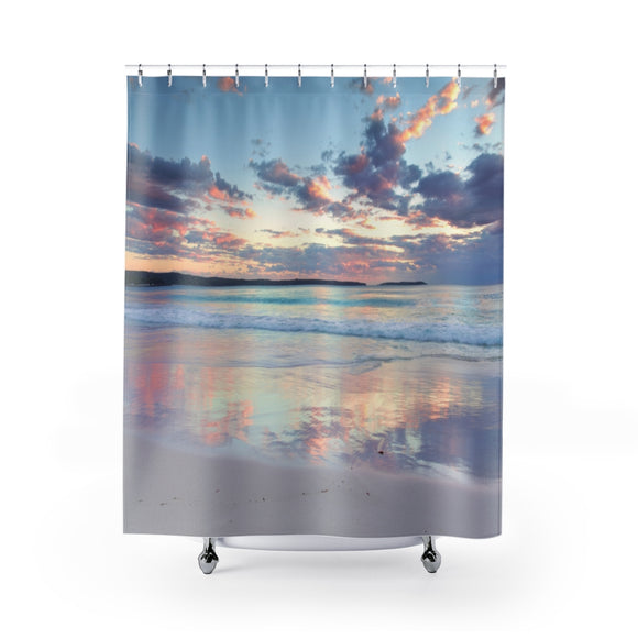 Beach Sunset 108R Shower Curtain