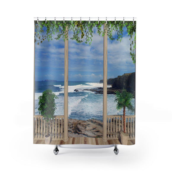 Beach View 102R Shower Curtain