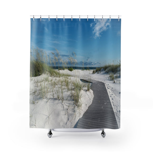 Beach Path 102R Shower Curtain