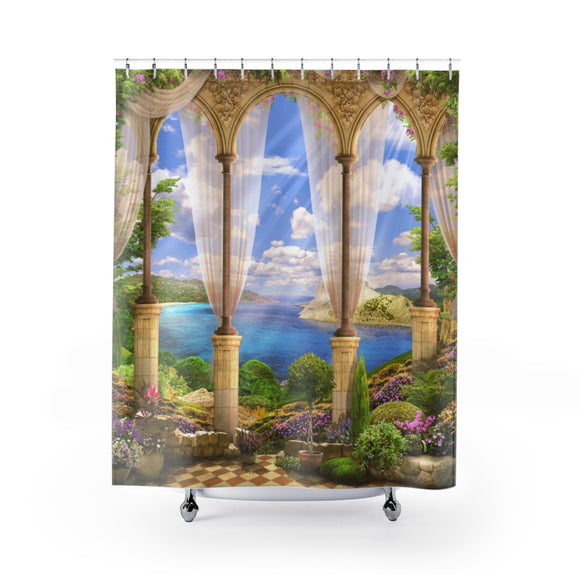 Beach View 104 Shower Curtain