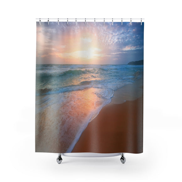 Beach Sunset 103 Shower Curtain