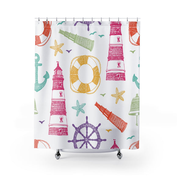 Lighthouse 201 Shower Curtain