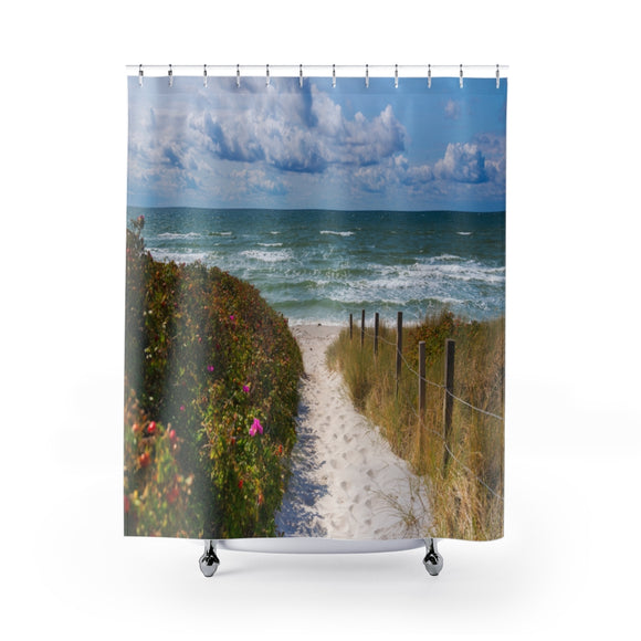 Beach Path 104 Shower Curtain