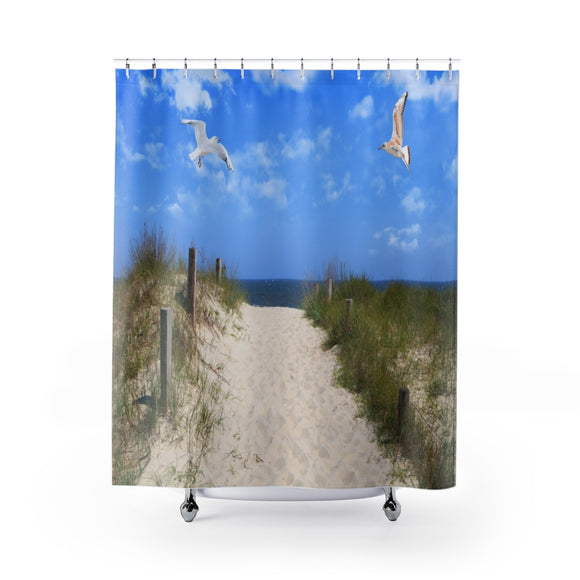 Beach Path 103 Shower Curtain