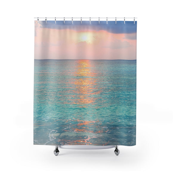 Beach Sunset 107 Shower Curtain