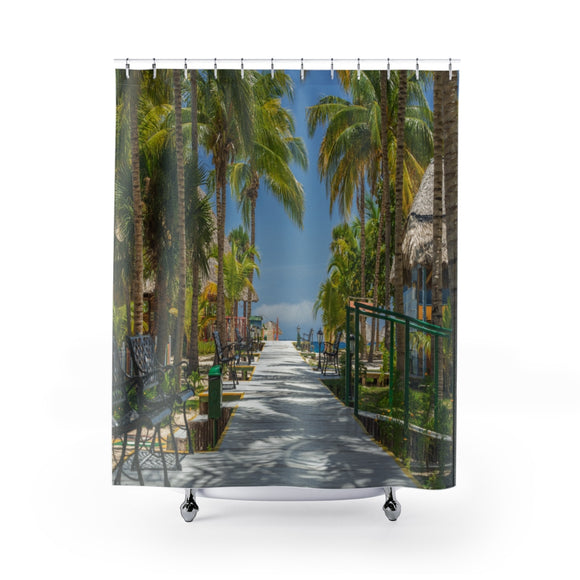 Beach Path 114R Shower Curtain