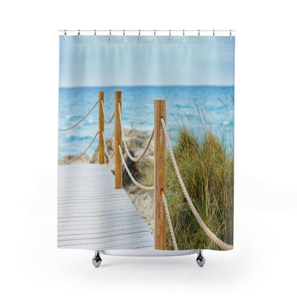Beach Path 110R Shower Curtain