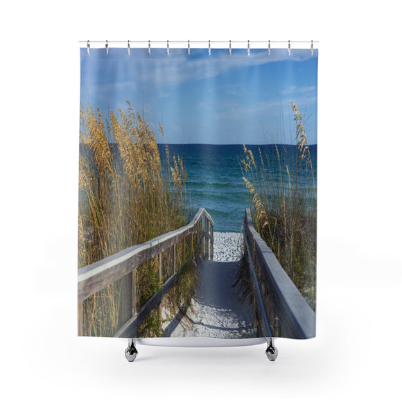 Beach Path 109 Shower Curtain