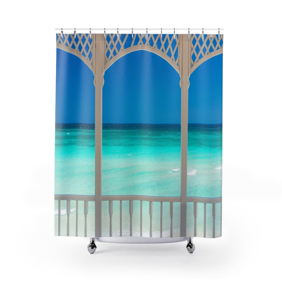 Beach View 110R Shower Curtain