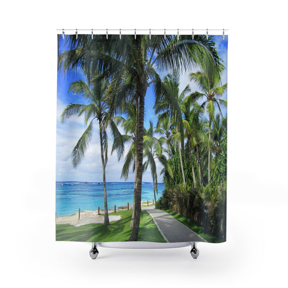 Beach Path 113R Shower Curtain
