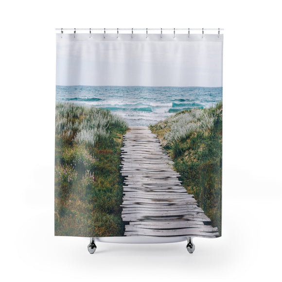 Beach Path 101R Shower Curtain