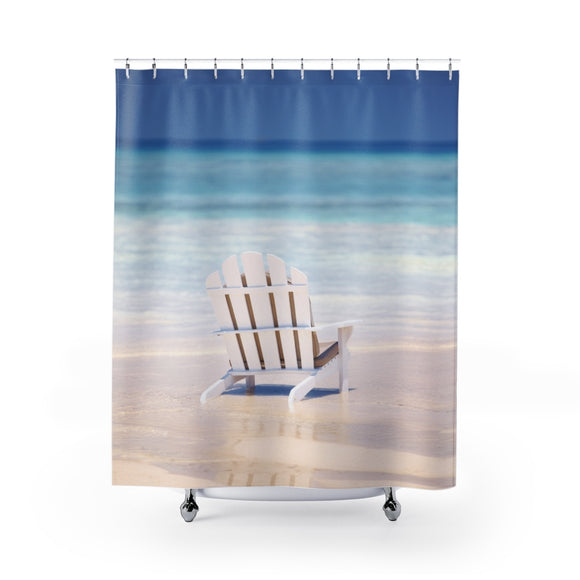 Adirondack Beach Chair 101 Shower Curtain