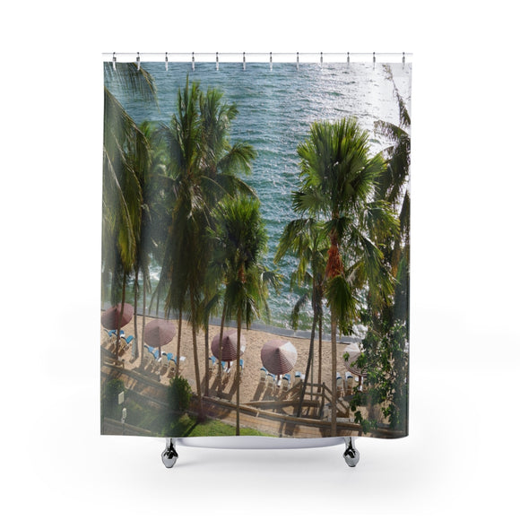 Beach View 106 Shower Curtain