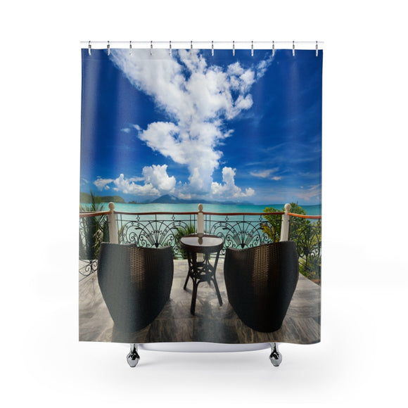 Beach View 108 Shower Curtain