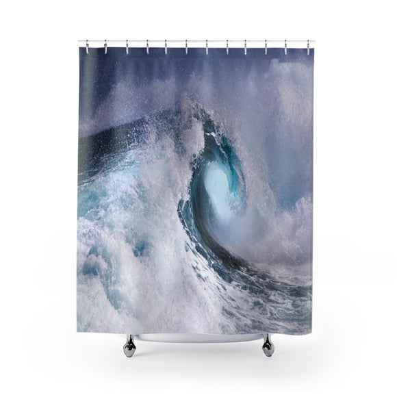 Ocean Waves 101 Shower Curtain