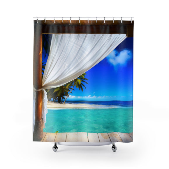 Beach View 101 Shower Curtain