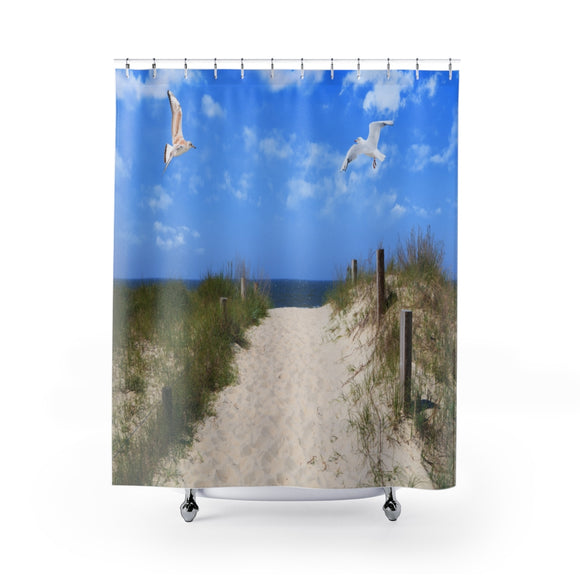 Beach Path 103R Shower Curtain