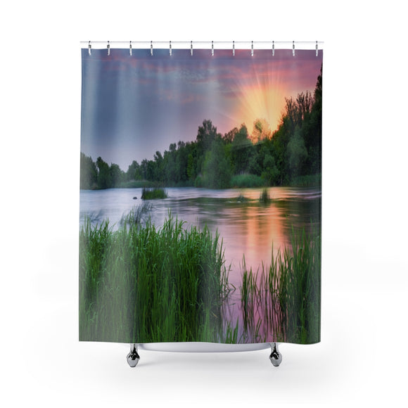 Marsh View 101R Shower Curtain