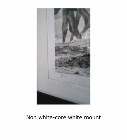 Non white-core white mount