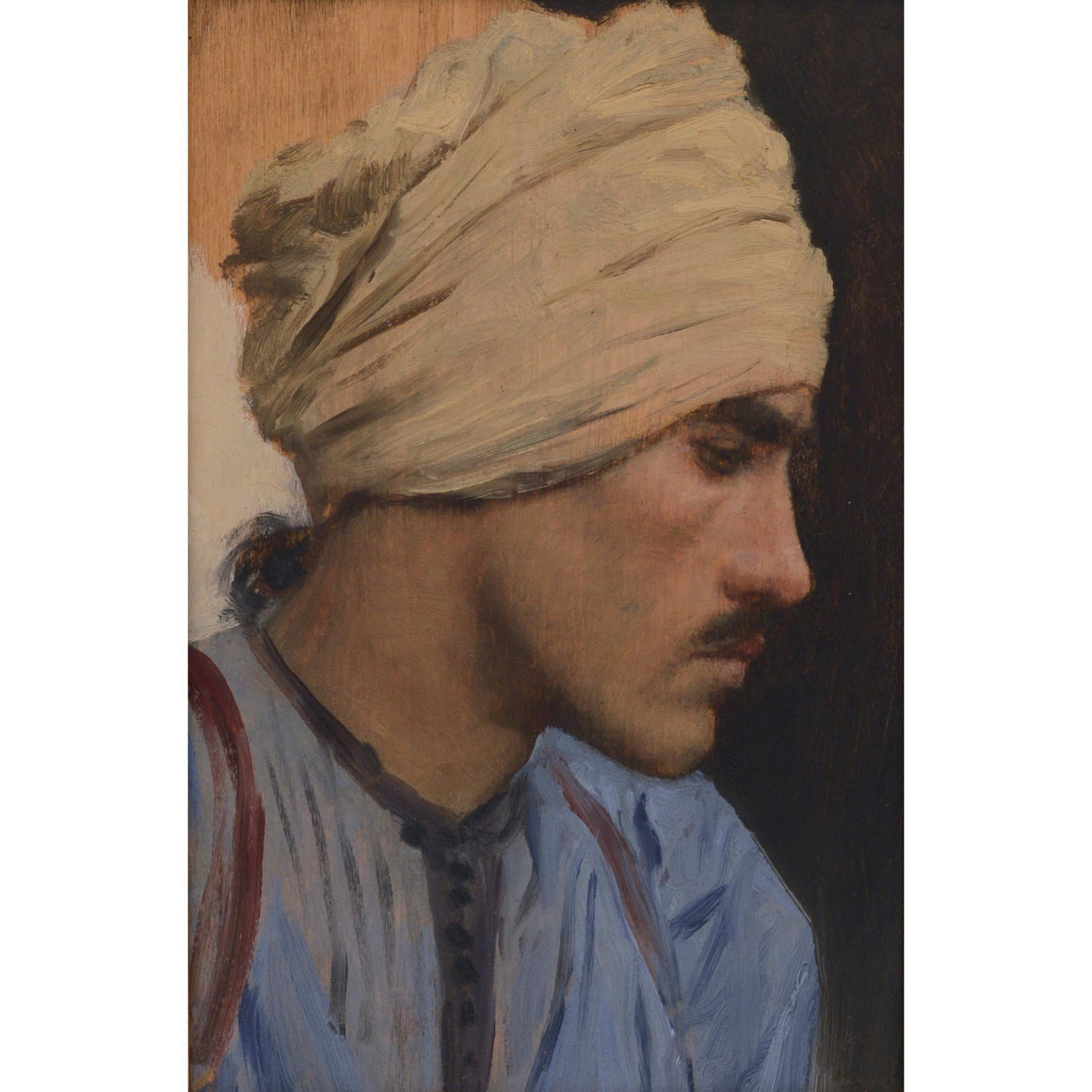 Profile of a Man Dressed in Blue - MONDA Gallery