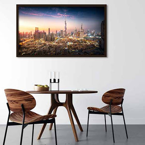 City of Perfection on dining room wall