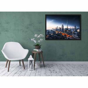 Dubai's Universe on living room wall